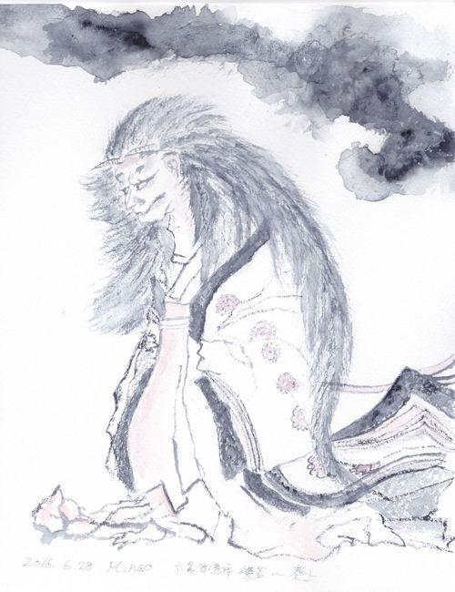 160628 葵の上(の般若)b 手本:北斎漫画_0001 r.jpg